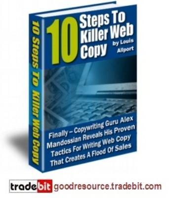 Product picture *New* 10 Steps to Killer Web Copy with Master Resell Rights