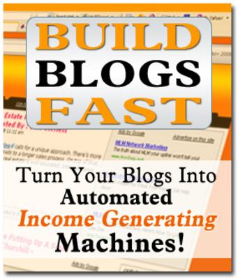 Product picture Build Blogs Fast Package (with MRR Master Resale Rights)