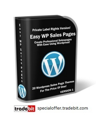 Product picture *New* Easy WordPress Sales Pages PLR